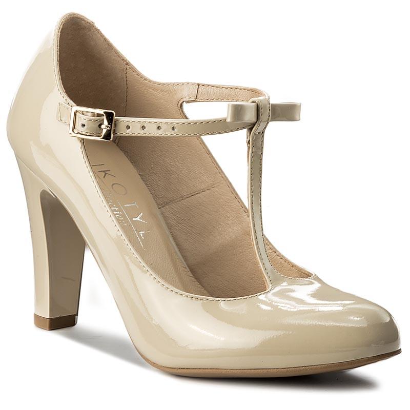 coduri promoționale jumatate din en-gros online Pantofi KOTYL - 5875 Jasny Beż Lakier - GLAMI.ro