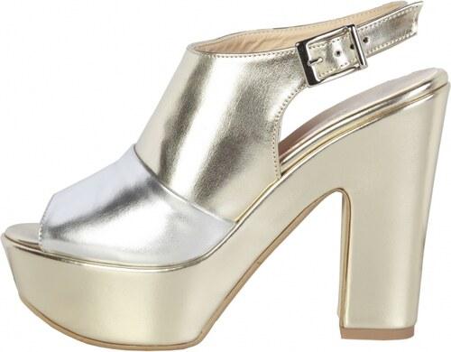 oferte exclusive cum să cumpere arătos Sandale cu toc Made in Italia BIBIANA PLATINO argintiu - Glami.ro