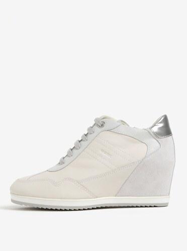 Geox Pantofi Sport Crem Din Piele Intoarsa | Pantofi Femei Geox